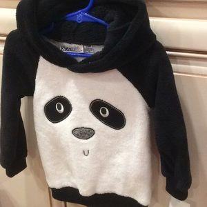 ❤️Kids Headquarters Panda look hooded sweatSz 24M